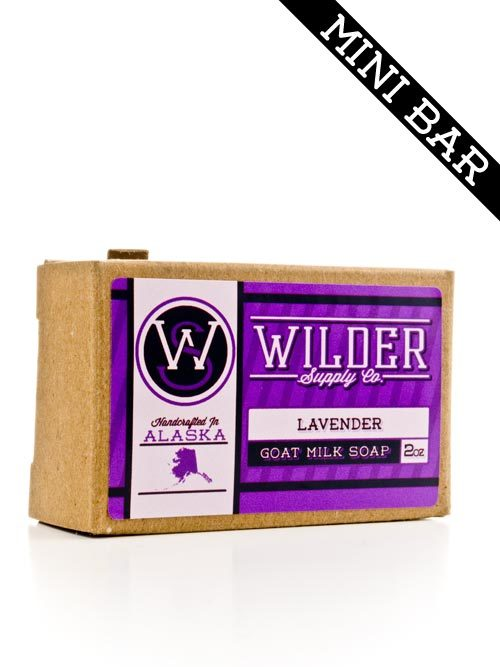 Perfect size for traveling with our lavender goat milk soap.